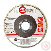 Диск шлифовальный лепестковый 125x22 мм, зерно K120 INTERTOOL BT-0212