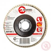 Диск шлифовальный лепестковый 125x22 мм, зерно K150 INTERTOOL BT-0215