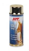 эмаль в аэрозоле хром эффект золото APP 400мл