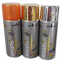 эмаль в аэрозоле хром эффект New Tone 400мл серебро