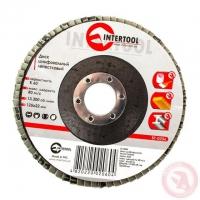 Диск шлифовальный лепестковый 125x22 мм, зерно K60 INTERTOOL BT-0206