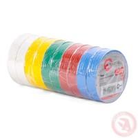 Лента изоляционная 0.15 мм*17 мм*25м цветная INTERTOOL IT-0029