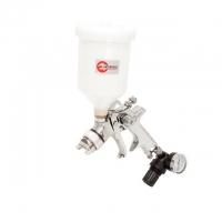 HVLP STEEL PROF KIT Краскораспылитель 1,7 мм в комплекте с дополнительной форсункой 1,4 мм INTERTOOL PT-1505