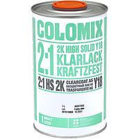 Лак бесцветный акриловый 2к HS 1л Сolomix + отвердитель 2к 0,5л