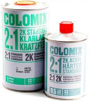 Лак бесцветный акриловый 2к стандарт 1л Сolomix + отвердитель 2к 0,5л