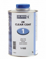 бесцветный лак экспресс DE BEER 1-102 2K (4:1) 4л + отвердитель 1л
