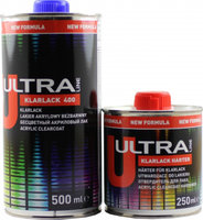 2К акриловый лак Ultra Novol Klarlack 400 (0,5л) + отвердитель (0,25л)