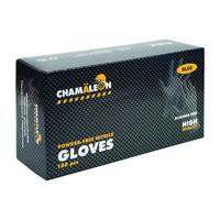 Нитриловые перчатки одноразовые черные XL CHAMAELEON Super Grip 80шт/уп