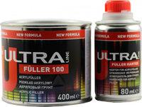 Акриловый грунт Ultra 5+1 FÜLLER 100 черный 0,4л. + отвердитель 0,08л