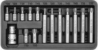 Набор бит Yato  YT-0411 Torx L=30мм с переходником 15 шт метал.кейс